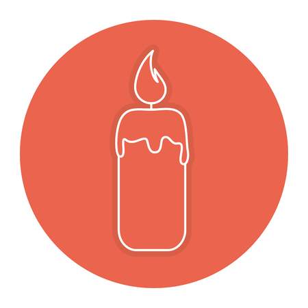 candle spa isolated icon vector illustration design