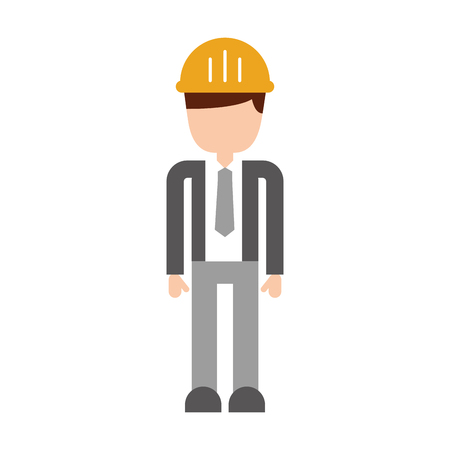 construction engineer avatar character vector illustration design Reklamní fotografie - 84596901