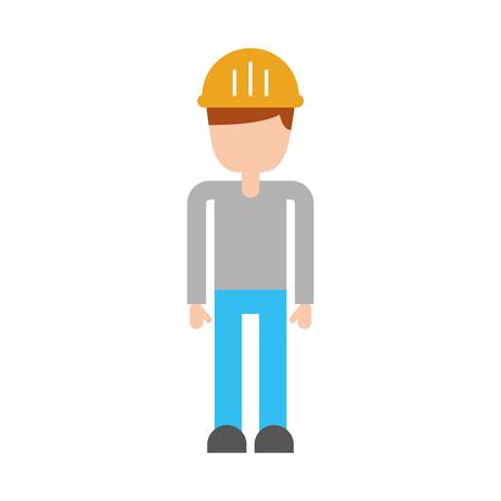 Construcción constructor avatar carácter vector ilustración diseño Foto de archivo - 84596910