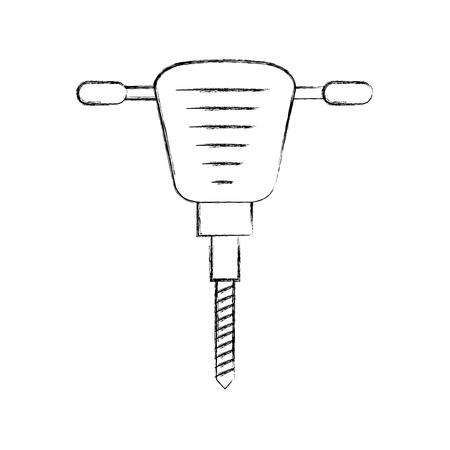 hydraulisch hamer geïsoleerd pictogram vectorillustratieontwerp Stock Illustratie