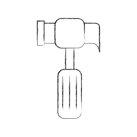 hammer tool isolated icon vector illustration design