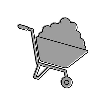 wheelbarrow construction isolated icon vector illustration design