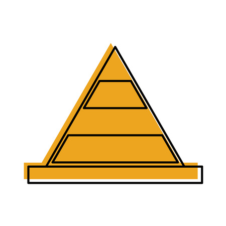 Kegelconstructie geïsoleerd pictogram vector illustratie ontwerp Stock Illustratie