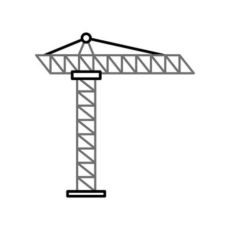 Grue de construction isolé icône vecteur illustration de conception Banque d'images - 84597042