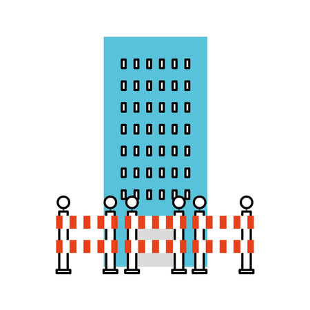building construction with barriers vector illustration design Ilustração
