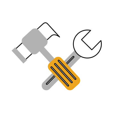 hammer and wrench icon vector illustration design Illustration