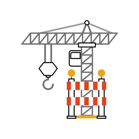 建設クレーン用フェンス ベクトル イラスト デザイン