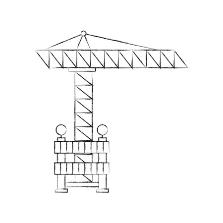 construction crane with fence vector illustration design Stok Fotoğraf - 84597085
