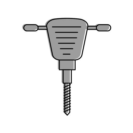 Marteau hydraulique icône isolée conception d'illustration vectorielle Banque d'images - 84597096