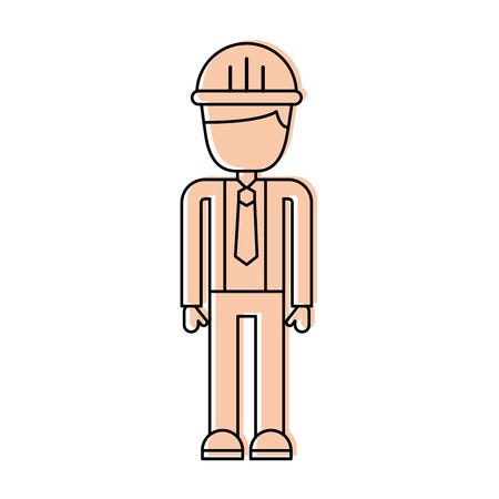 Ingeniero de la construcción avatar ilustración vectorial diseño de personajes Foto de archivo - 84597104