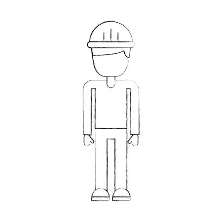 Construcción constructor avatar carácter vector ilustración diseño Foto de archivo - 84597133