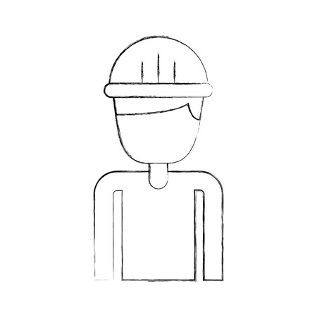 construction builder avatar character vector illustration design Ilustrace