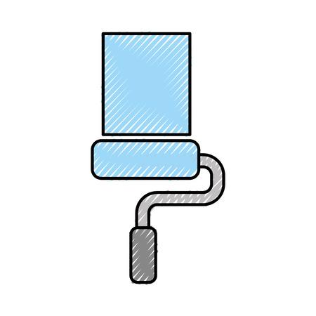 ペイント ローラー分離アイコン ベクトル イラスト デザイン