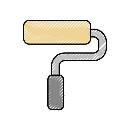 paint roller isolated icon vector illustration design