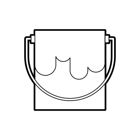 paint pot isolated icon vector illustration design Ilustração