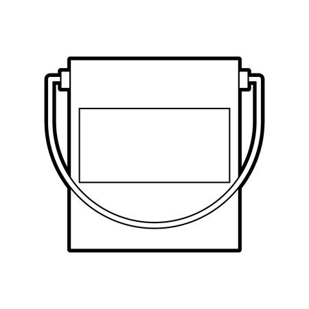 pot de peinture icône isolé illustration vectorielle conception