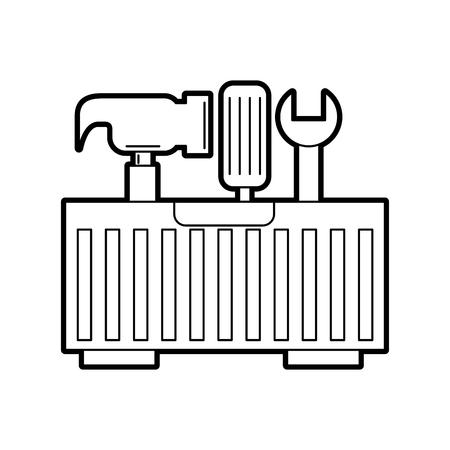 tool box isolated icon vector illustration design