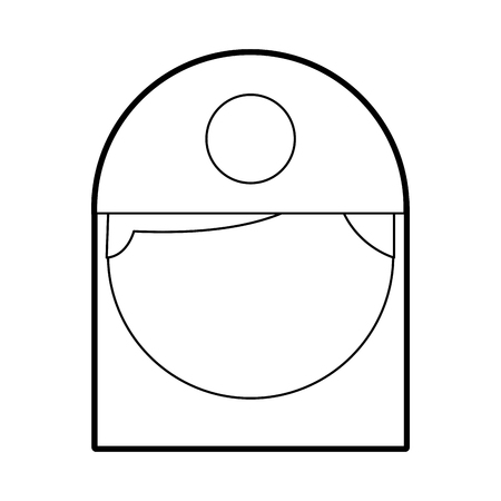 Verpleegster avatar karakter icoon vector illustratie ontwerp