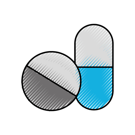 capsule drug isolated icon vector illustration design