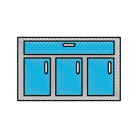Houten lade geïsoleerde pictogram vector illustratie ontwerp Stockfoto - 84597436