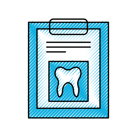 clipboard with Human tooth isolated icon vector illustration design Illusztráció
