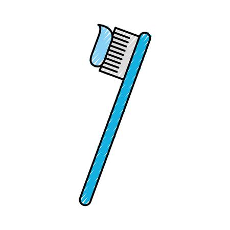 tandheelkundige tandborstel geïsoleerde pictogram vector illustratie ontwerp