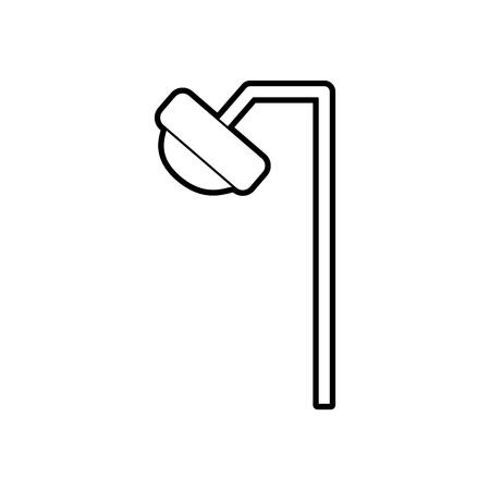 Dentistry lamp isolated icon vector illustration design Illusztráció