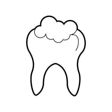 Menschlicher Zahn mit Zahnpasta Vektor-Illustration Design Standard-Bild - 84599148