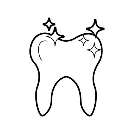 Menschlicher Zahn mit Sternen Vektor-Illustration Design Standard-Bild - 84599156