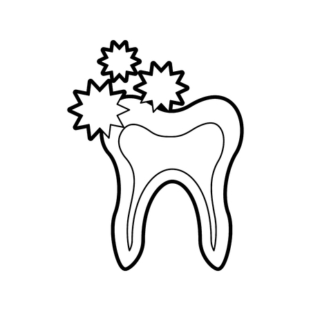 Human tooth with bacterium vector illustration design Stock fotó - 84599157
