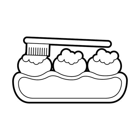 tandzorg met ontwerp van de tandenborstel het vectorillustratie