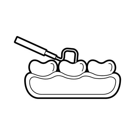 Zahnpflege mit Zahnmedizin Haken Vektor Illustration Design Standard-Bild - 84599162