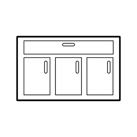 wooden drawer isolated icon vector illustration design