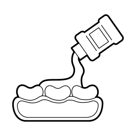 Zahnpflege mit Mundwasser Vektor-Illustration Design Standard-Bild - 84599164