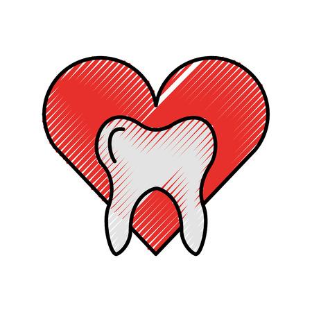 Menschlicher Zahn mit Sternen Vektor-Illustration Design Standard-Bild - 84599183