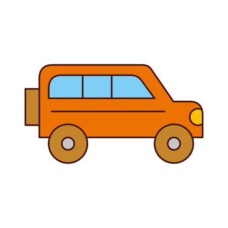 Progettazione dell'illustrazione di vettore dell'icona isolata van del safari Archivio Fotografico - 84599184