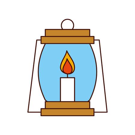Acampar linterna aisladas icono de ilustración vectorial de diseño Foto de archivo - 84599186