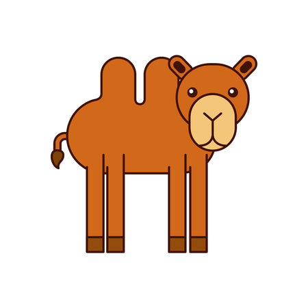 african camel isolated icon vector illustration design Illustration
