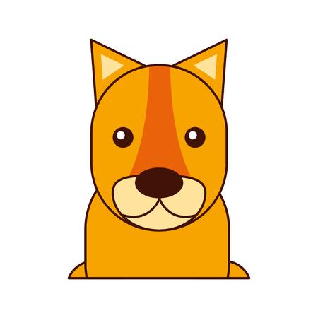 Het wilde leeuwin geïsoleerde ontwerp van de pictogram vectorillustratie Stock Illustratie