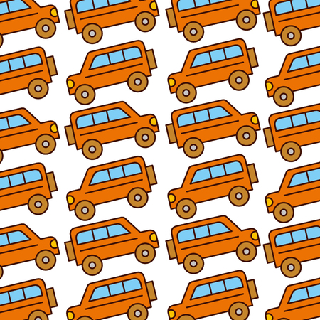 safari van pattern background vector illustration design
