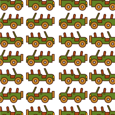 safari jeep pattern background vector illustration design Ilustração