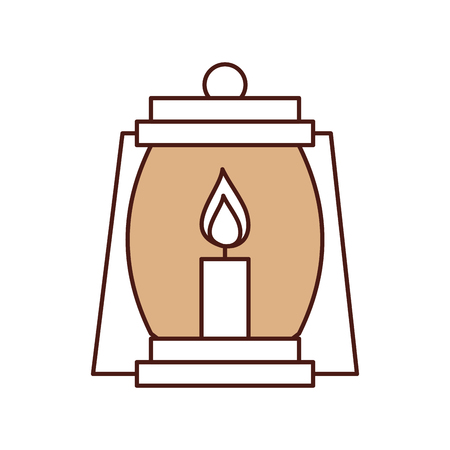 lantern camping isolated icon vector illustration design