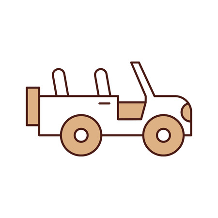safari jeep isolated icon vector illustration design