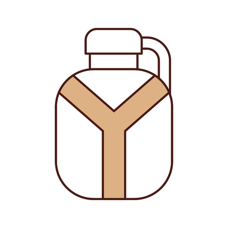 safari canteen isolated icon vector illustration design