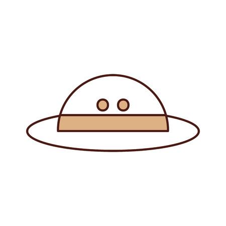 帽子サファリ分離アイコン ベクトル イラスト デザイン