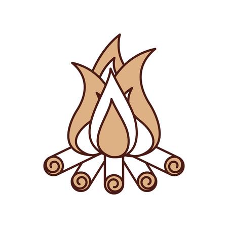 Feu de camp isolé icône illustration d'illustration vectorielle Banque d'images - 84599322