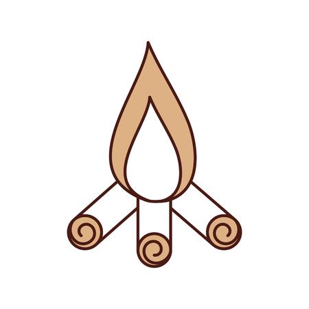 Feu de camp isolé icône illustration d'illustration vectorielle Banque d'images - 84599302