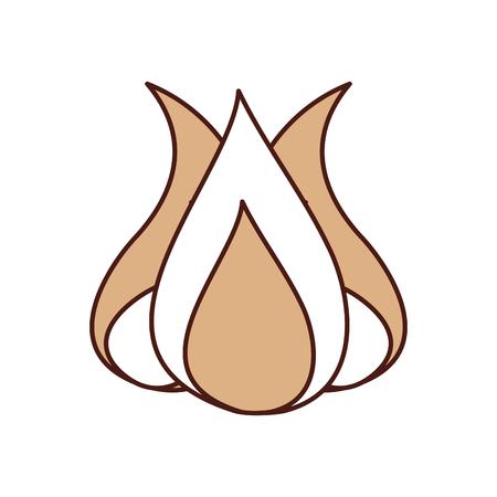 Feu de camp isolé icône illustration d'illustration vectorielle Banque d'images - 84599309