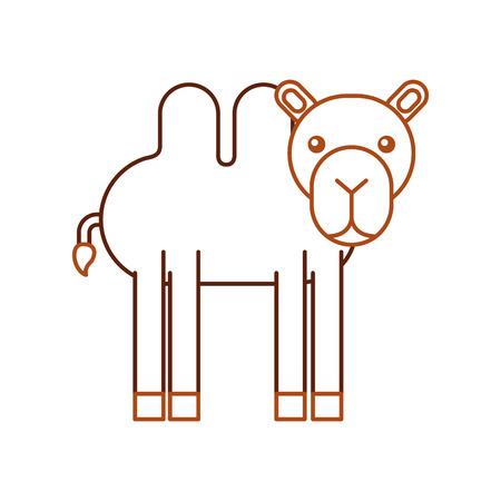 Africano camello aislado icono ilustración vectorial Foto de archivo - 84599324