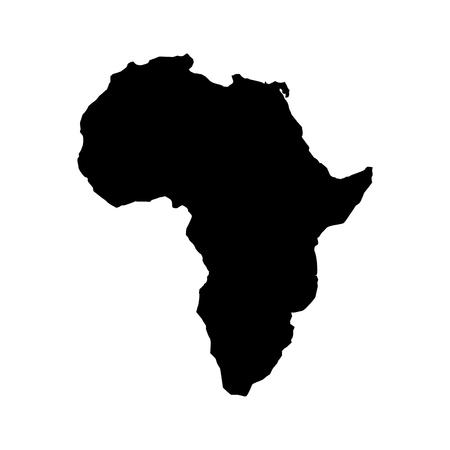 África mapa aislado icono vector ilustración diseño Ilustración de vector